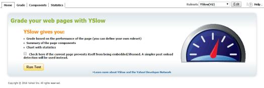 YSlow Chrome Extension