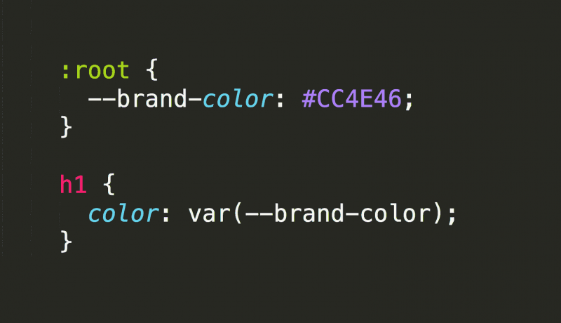 CSS variable declaration and use