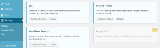 System Tweaks in iThemes Settings