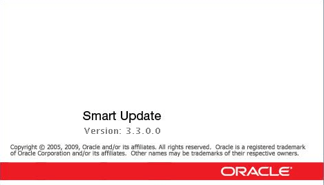 Oracle WebLogic Smart Updater splash screen