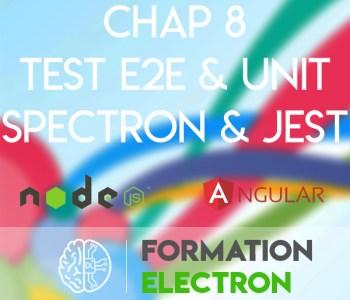 electron jest spectron e2e unitaire test