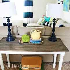 Build A Rustic Sofa Table Fun Make New Wood Look Old