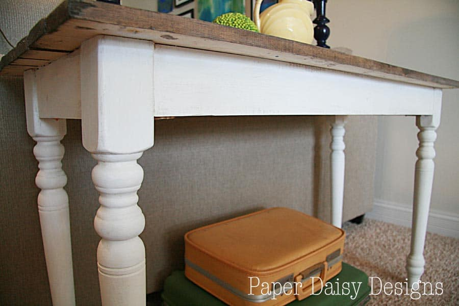 build a rustic sofa table broyhill cambridge reviews make new wood look old paperdaisydesign com