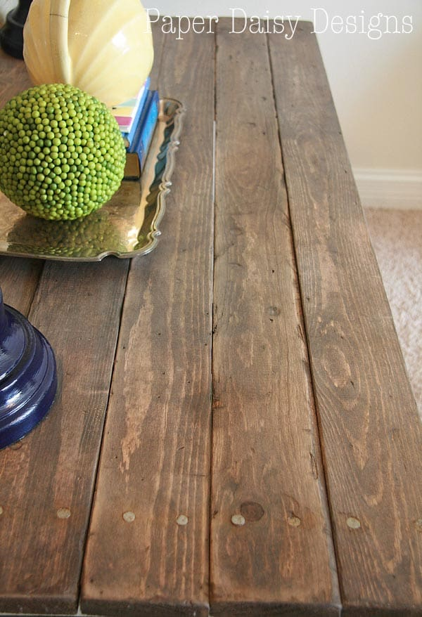 build a rustic sofa table under storage on wheels make new wood look old diy reclaimed paper daisy design com