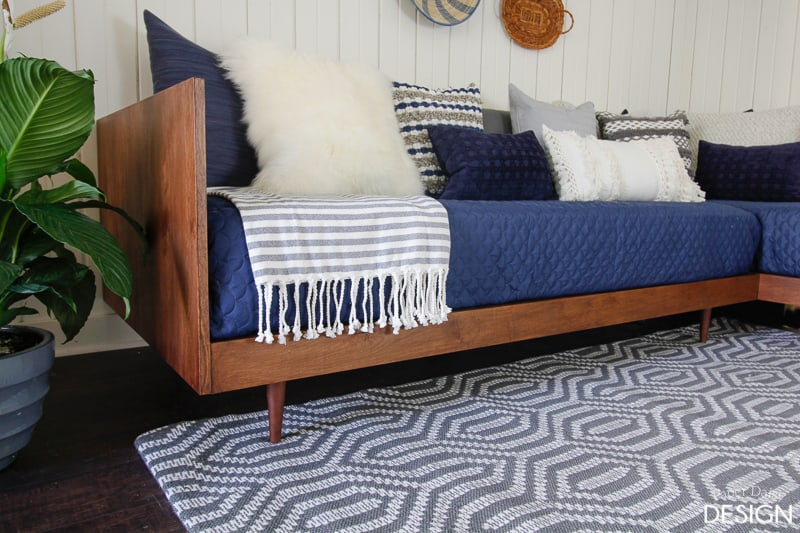 diy daybed sofas pottery barn pearce sleeper sofa review plywood mid century modern