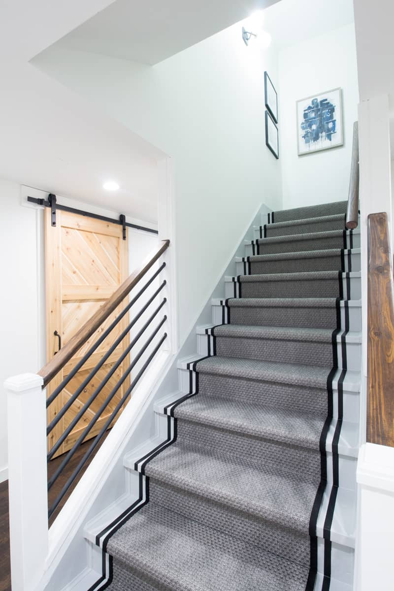 How To Paint Stairs And The Striped Staircase Makeover