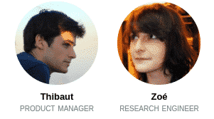 Thibaut and Zoé, interns at Deepomatic.