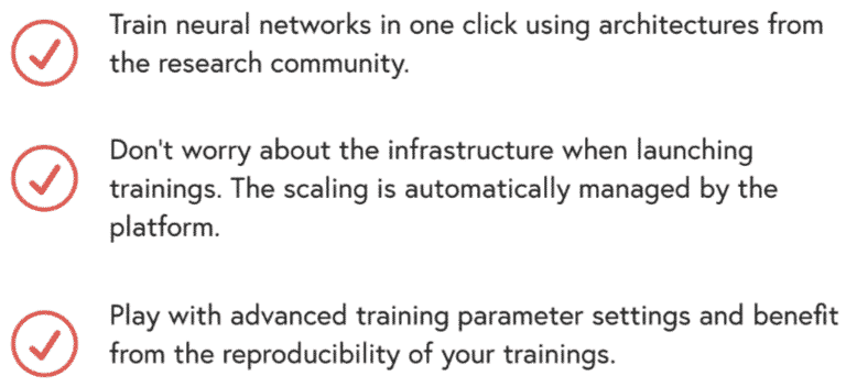 Deepomatic's algorithms and training.