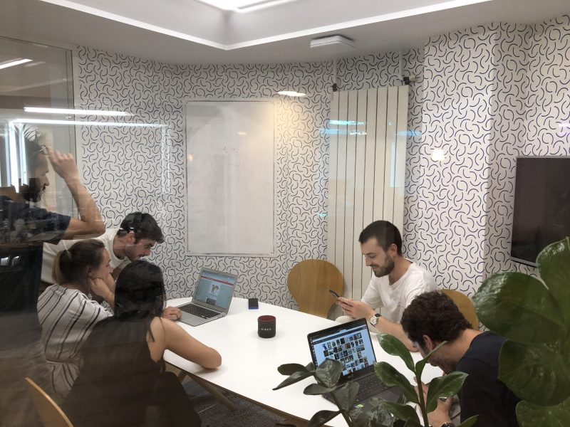 Our team brainstorming for 7 Billion Picture app