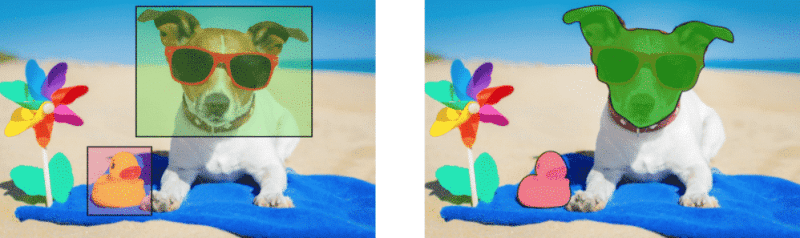 Detection and segmentation in object recognition.