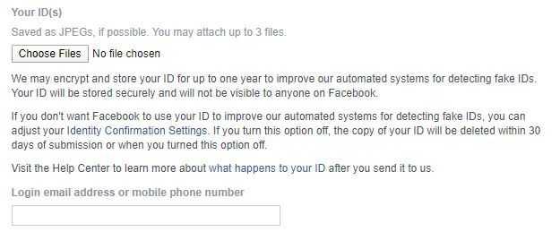 تأكيد هويتك مع الفيسبوك