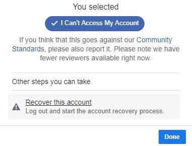 استرداد حسابك من صفحة ملفك الشخصي