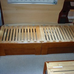 Sofa Beds For Motorhomes Towson Md Deep Red A Self Build Motorhome Seats Bed Base Unit