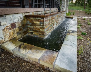 Perennial plantings along water feature