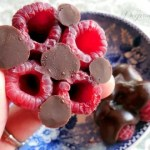 Elegant Little Chocolate Raspberry Clusters  NO text