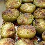 roasted green tomatoes, fried, grilled, on burgers