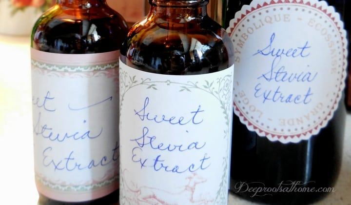 Make Your Own {Non-Processed} Stevia Extract, essential oil dropper, liquid extract, homemade, natural, green, no-side-effect, glycosides, sweetener, cooking, sweet tea, dried herb, Bulk Herb Store, DIY,
