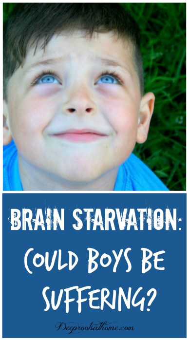 Brain Starvation: Could Boys Be Suffering?, parent helps, children, classroom, practical experience, peers, performance, adrenaline, blood flow to brain, emotions, feelings, control, education, senses, concepts, hands-on, verbal ability, right brain, left brain, teaching boys, eye contact, discipline, full potential, behavior, homeschool, home education, teach at home, keeper at home, brain development, respond to stress, males, females, relationships, smiling, boy, young child, cute boy, starving, deficiency, brain starving, Dianne Craft, nutritionist, fat, DHA, essential fatty acid, fish oil, mother's milk, healthy fats, corpus callosum, myelin sheath, good sleep patterns, feeling of well-being, positive outlook, self-control, impulsive behavior, anger, anxiety, serotonin, calming, antidepressant, Ritalin, psychotropic drugs, hyperactivity, ADD, sleep problems, dry hair, dry skin, cracked skin, chapped lips, excessive thirst, warts, glare sensitivity, poor vision, mental symptoms, physical symptoms, left brain, judgement, right brain, emotions, fatten up, limit sugar, adrenal glands, child who hates writing, sensory issues,