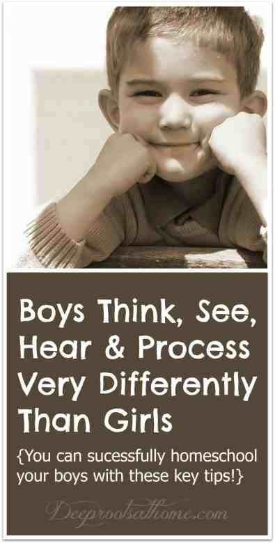 Boys Think, See, Hear & Process Very Differently Than Girls, schoolwork, enjoy your boys, bind hearts, sports, inspire, encourage, outlet for extra energy, draw verbs, draw nouns, teaching strategies, parent helps, children, classroom, book learning, practical experience, peers, optimum temperature, falling asleep, sons are a blessing, teammates, mother of boys, boy scouts, sons, crave danger, challenge, winners, losers, danger, performance, adrenaline, blood flow to brain, strong male characters, draw maps, clues in book, time outdoors, emotions, feelings, control, real world experiences in education, senses, concepts, hands-on experience, verbal ability, stroke, right brain, left brain, voice fluctuation, hand motions, teaching boys, incorrect diagnosis, ADHD, books, eye contact, discipline, color, drawing, artwork, educational environment, teaching approach, full potential, Dr. Leonard Sax, Why Gender Matters, Boys Adrift, scientific evidence, thinking, seeing, behavior, hearing, homeschool, home education, teach at home, keeper at home, brain development, tips, DIY, mental physical, respond to stress, rods, cones, eyes, distance, speed, dare devil, males, females, homemaking, relationships, risk taking, showing off, friends, overestimating ability, smiling, boy, young child, head ib his hands, chin resting on hands, cute boy