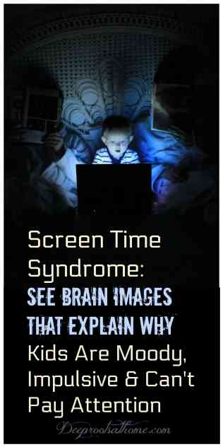 Screen Time Syndrome: Brain Images Explain Why Kids Are Moody, Impulsive & Can't Pay Attention , limiting online time, Dr. Nicholas Kardaras, addiction expert, child counselor, educational games, iPad, electronic Lego, Legos, creative play, find rare minerals, Minecraft club, digital game, gaming, behavior, temper tantrums, outbursts, refusing to do chores, tablets, smartphone, shortcut tool, images, spoonfeeding, lazy learning, dumbing down, mental effort, developing brain, low-tech parent, Steve Jobs, Silicon Valley, no-tech Montessoru schools, Waldorf schools, Xboxes, brain imaging research, science, frontal cortex, impulse control, executive functioning, cocaine, dopamine levels, technology, feel-good neurotransmitter, addiction, sex, Dr. Victoria L. Dunckley, exposure, sensory overload, lack of sleep, hyper-aroused nervous system, electronic screen syndrome, impulsive, moody, can't pay attention, rewire, train, delayed gratification, bored time, creativity, set limits, monotonous work, early years, work ethic, parenting, Victoria Prooday, strengthen brain,blue light