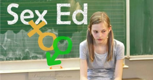 K-5 In Public Schools. A dejected and worried young girl in a classroom