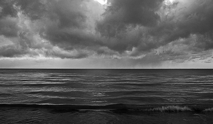 Photographer Brendan Bannon's image of Lake Erie, one of the inspirations for Boyd Lee Dunlop's solo piano album, The Lake Reflections.