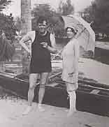 Jack London and his wife Charmain at the Outrigger Canoe Club, Waikiki, 1915. Courtesy Bishop Museum Archive