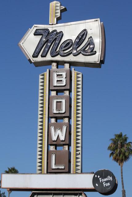 Mels Bowl @ 2580 El Camino, Redwood City, CA. (Opened:1960. Closed: 2011)