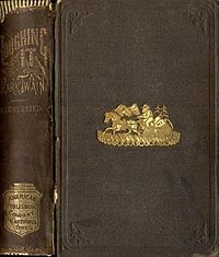 A first edition of Mark Twain's Roughing It, published in 1872, an autobiographical novel chronicling many of the author's early adventures, including a journey to what was then the Kingdom of Hawaii and his attempt at 'surf-bathing.'
