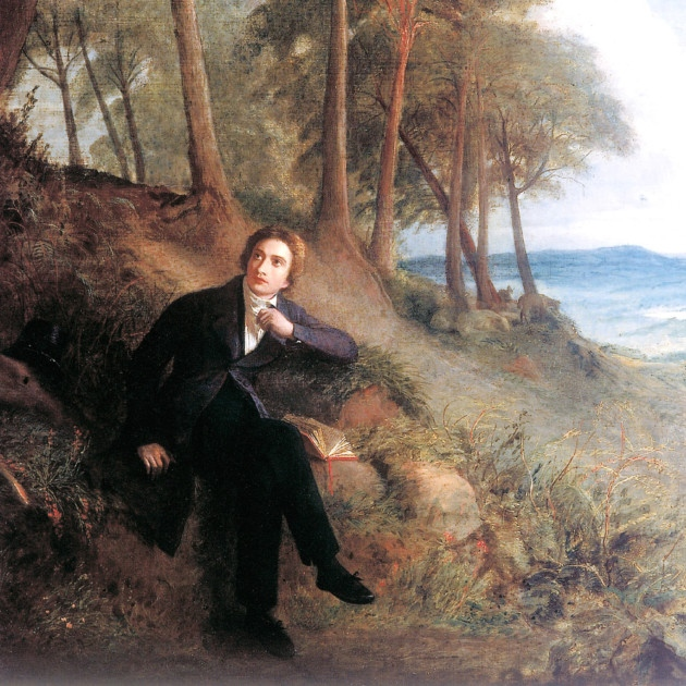 Joseph Severn's painting of Keats 'Listening to the Nightingale on Hampstead Heath'