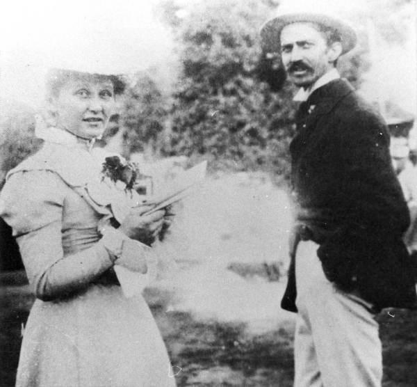 Cora and Stephen Crane, circa 1896