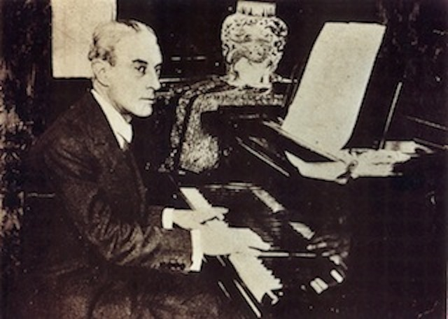 Maurice Ravel at the piano