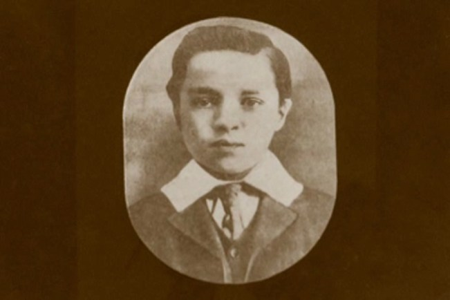 Charlie Chaplin in his first professional role as a child performer, as a member of the clog dancing troupe Eight Lancashire Lads