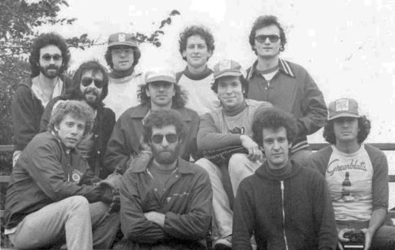Top row, from left: Wolmark, Kirkeby, Kenton, Kostick; center row, from left: Schanzer, McGee, Mieses; front, from left: Skiba, Levitt, Smith, Baker. (Photo by Mitchell Kanner)