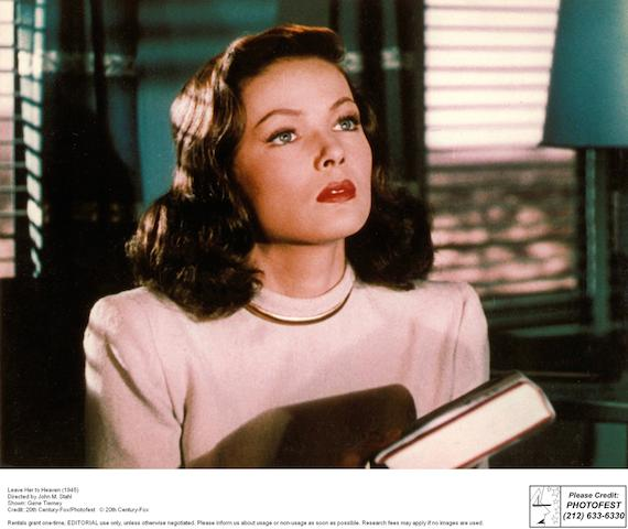 Gene Tierney in Leave Her to Heaven