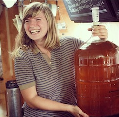 Tara Whitsett with a batch of mead (Photo: Facebook/Fermentation on Wheels)