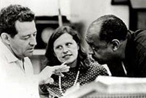 John and Faith Hubley with jazz great Benny Carter