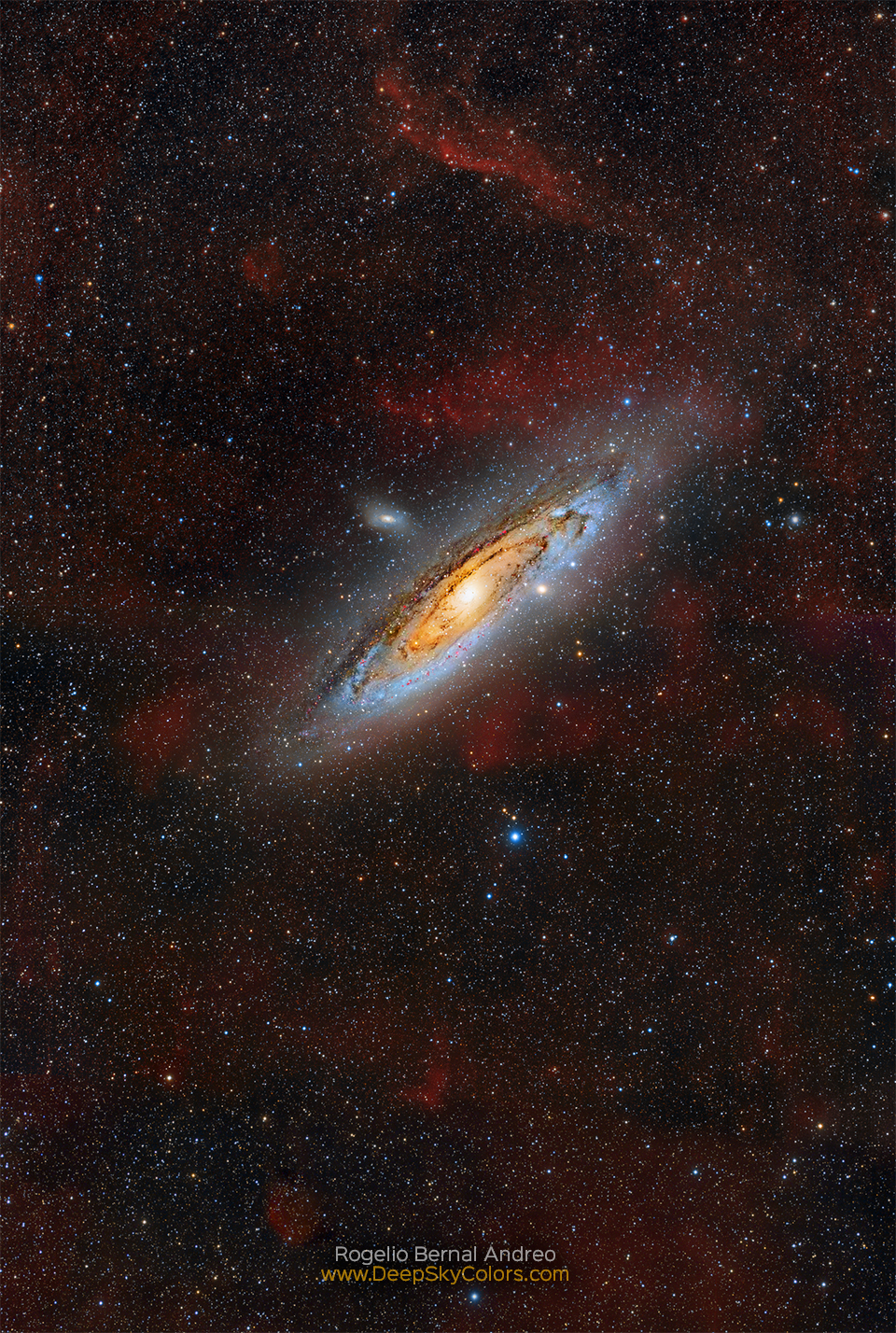hight resolution of clouds of andromeda