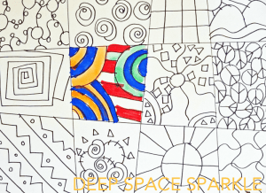 line drawing graphic patterns pattern squares simple space sparkle lines deep draw drawings using paper lesson shapes lessons projects paint