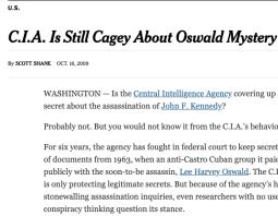 New York Times on Morley v. CIA