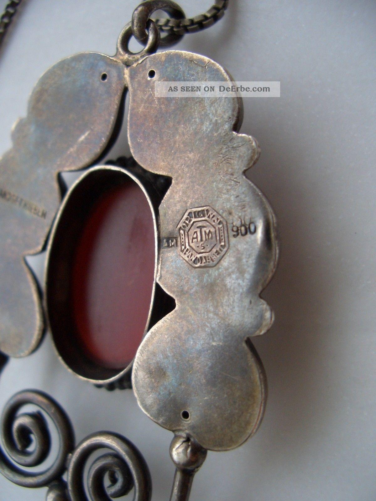 Adolf Mayer Jugendstil Silber Anhnger Mit Karneol Art Nouveau Silver Pendant