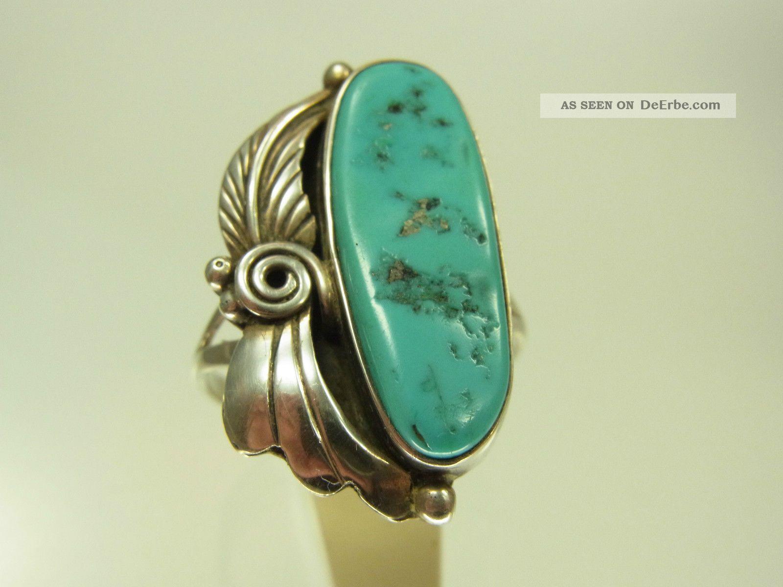 Schner Trkis Indianer Ring 925 Sterlingsilber Sehr Schn