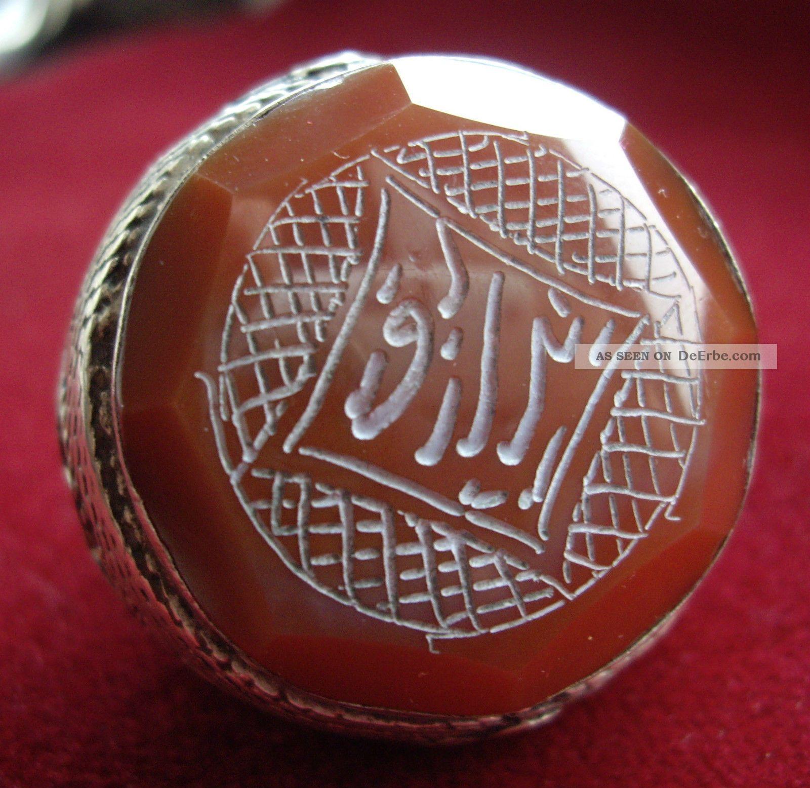 Raritt Antiker Silberring M Siegel Unbekannter Herkunft Und Alter Arabisch