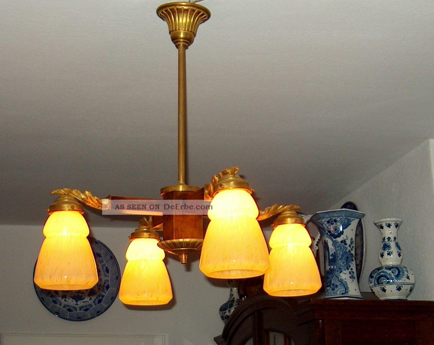 jugendstillampe lampe luster leuchter laterne wandlampe salon lamp deckenlampe