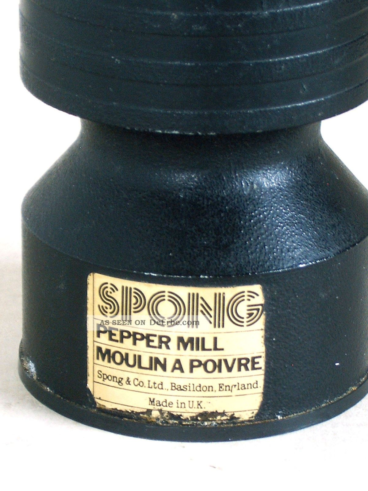 Vintage Spong England Metall Pfeffermhle Cast Iron Pepper