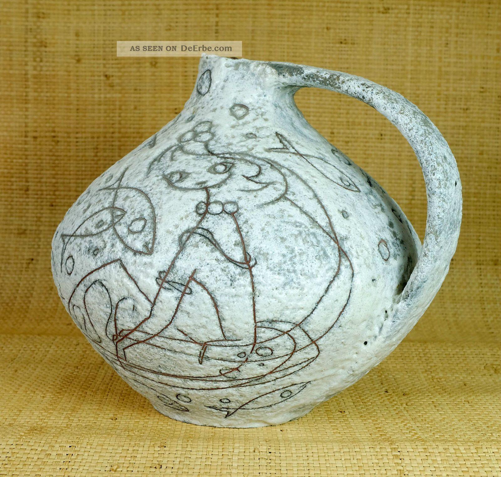 Imposante Vase Ruscha Dekor Filigran Adele Bolz 50er Jahre