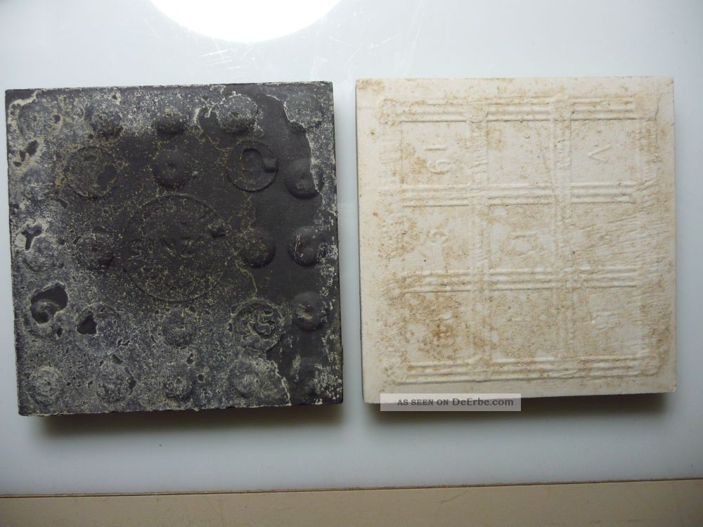 Bauhaus Stil Kacheln Fliesen Mosaik 5 M3 Schwarz  Wei Signiert 10 X 10 X 0 1cm