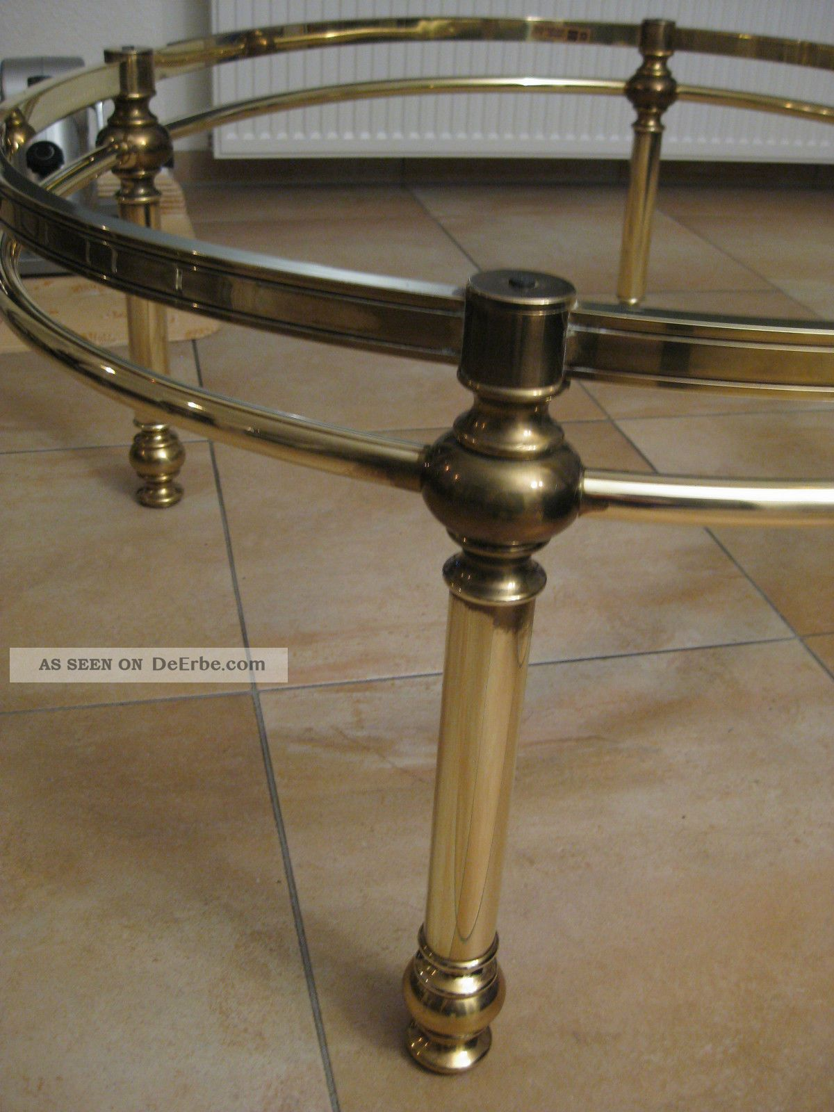 Couchtisch Messing Oval 130x100x48 Deutsches Produkt Hohnert Gtesiegel M005