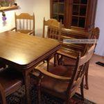 Esstisch Ausziehbar Mit 6 Stuhle Antik Esszimmer Gruppe Massiv