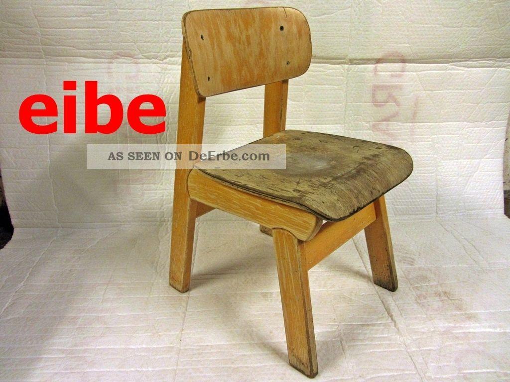 Alte Kinderstuhl Holz Stuhl Stuhle Eibe